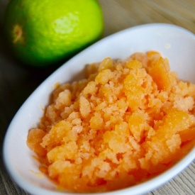 Papaya lime granita