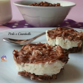 Mini cheesecake nutella e cereali