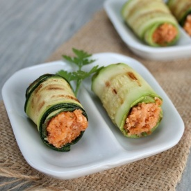 Involtini di zucchine finger food