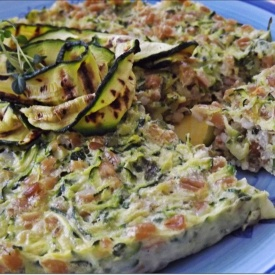 Torta di farro e zucchine (very light)