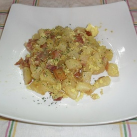 Patate alla carbonara