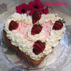 #Crostata con #mousse di #fragole