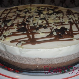Cheesecake ai 4 cioccolati