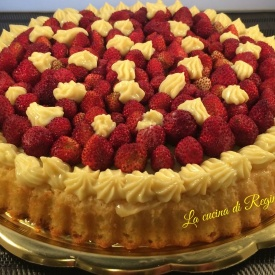 torta californiana con fragoline