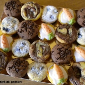 Muffin, varie ed eventuali: Nutella, carote, mirtilli e cioccolato
