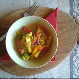 Curry indiano di verdure miste