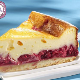 New York Cheese cake al Cioccolato Bianco e composta di Lamponi