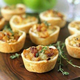 Mini quiches di bietole e pancetta