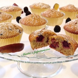 Muffin con yogurt more e prugne