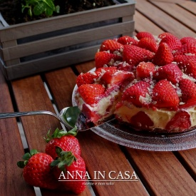 Cheesecake cremoso con fragole
