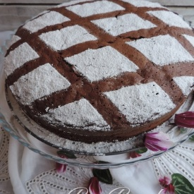 Torta al latte caldo con cioccolato fondente(hot milk chocolate cake)