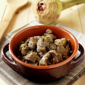 Coratella di agnello con carciofi