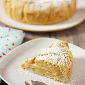 Crostata con crema di limone light