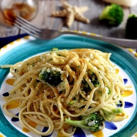 Linguine con sciabola, broccolo siciliano e bottarga